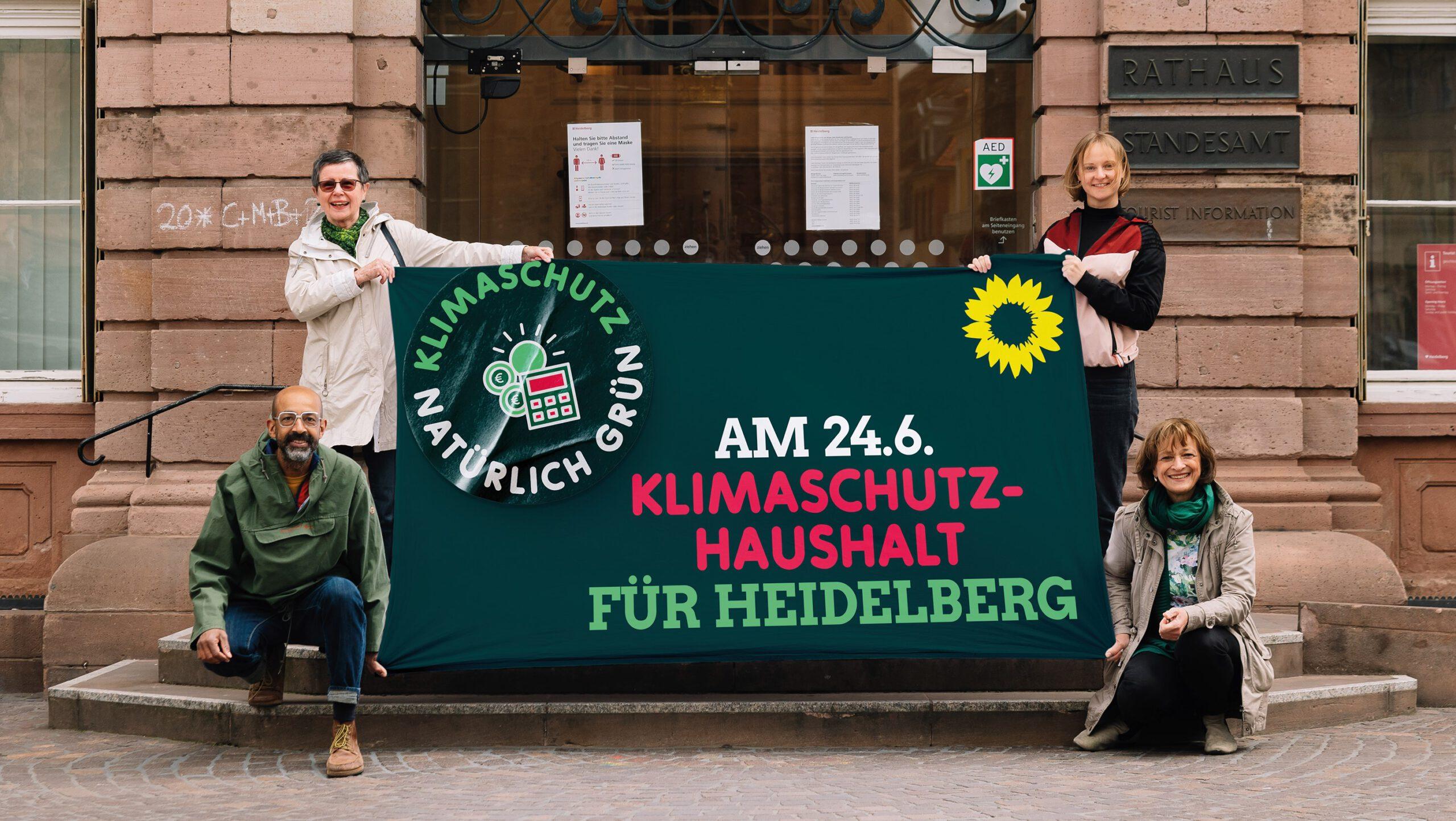Für die Grünen-Fraktion gilt auch in Bezug auf den Haushalt: solide und wirksam in den Klimaschutz investieren!